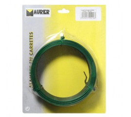 Alambre Plastificado 1,2 mm. Verde (Rollo 50 metros)