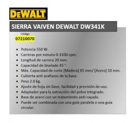 Sierra Vaiven Dewalt DW341K
