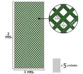Celosia Pvc Fija Verde Set 5 piezas de 2 x 1metros