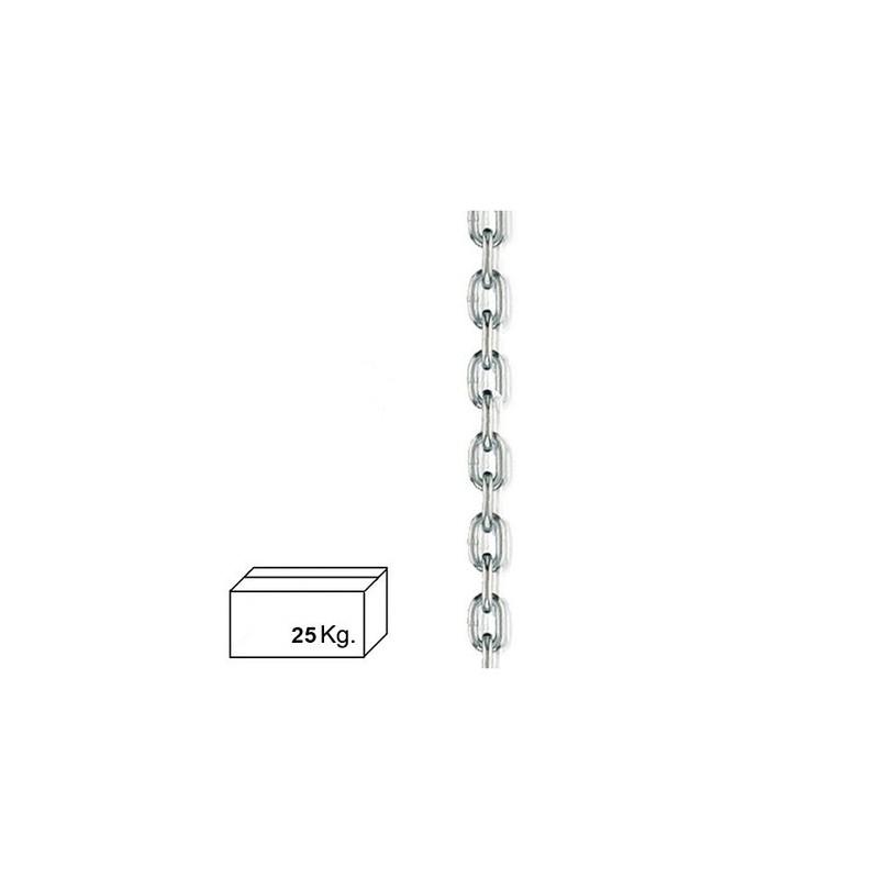 Cadena Zincada  4 mm. (Caja 25 kg.)