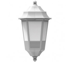FAROL BEGONYA PARED MEDIO E27 POLIPROPILENO 49357 BLANCO