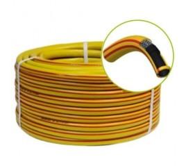 5//8 Rollo 50 Metros Manguera Amarillo Hidro Mat 15 Mm