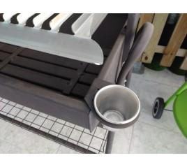 Barbacoa con parrilla de 80 cms, para carbon y leña. Modelo Santander