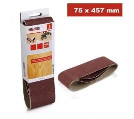 BLISTER 3 UD CINTA LIJADORA 75X457 G180 VARO
