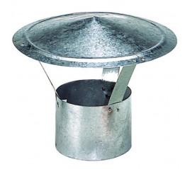 Sombrero Galvanizado Para Estufa de 250 mm.
