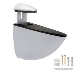 Soporte Pelicano Regulable Para Estante 1 / 35 mm. Cromo Mate  (1 Pieza)