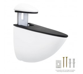 Soporte Pelicano Regulable Para Estante 1 / 35 mm. Blanco  (1 Pieza)