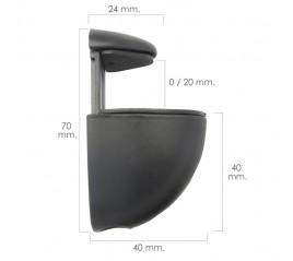 Soporte Pelicano Regulable Para Estante 1 / 20 mm. Negro (1 Pieza)