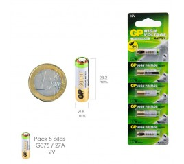 Pila Alcalina G375/ 27A 12...