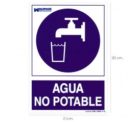 Cartel Agua No Potable...