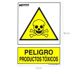 Cartel Peligro Productos...