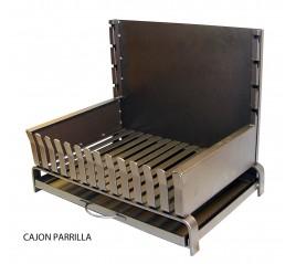 Cajón Barbacoa Carbón/Leña C/ Parrilla, Plancha, Kit Pollo