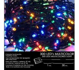 Luces Navidad A Pilas 300...