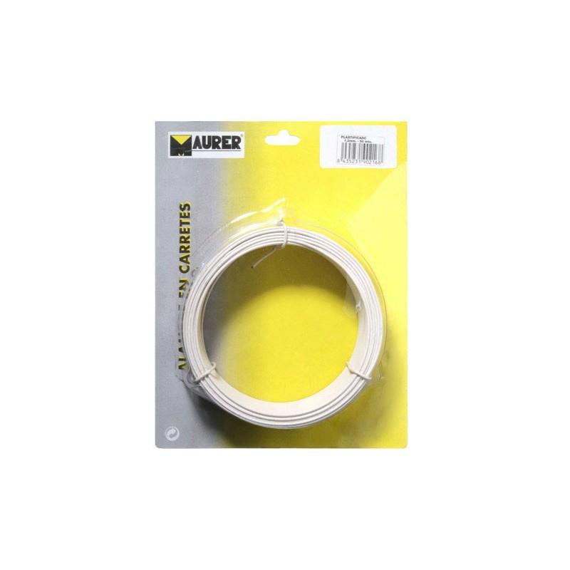 Alambre Plastificado 1,2 mm. Blanco (Rollo 50 metros)