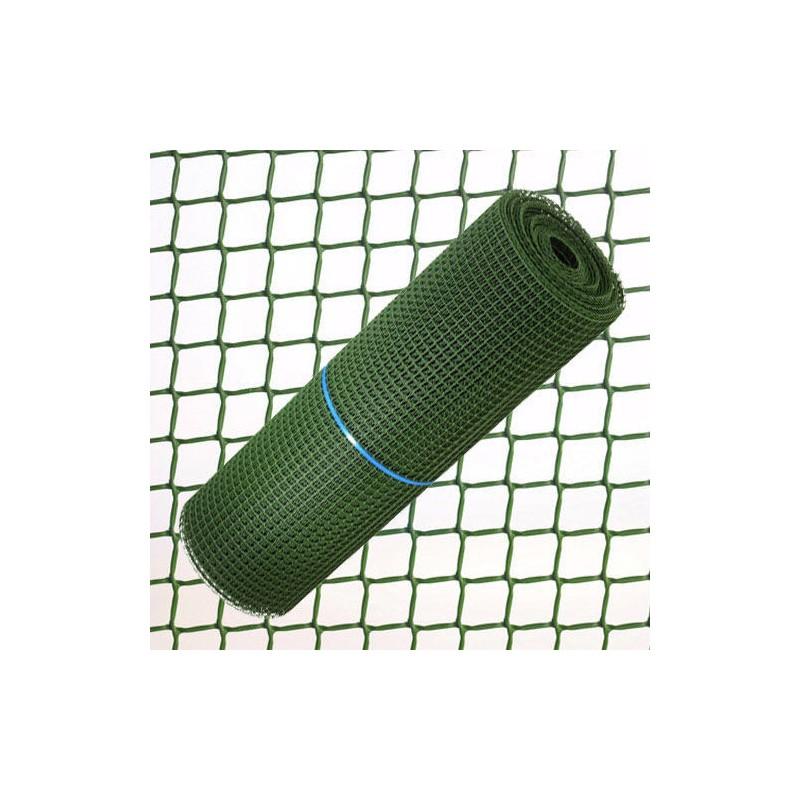 Tela Cuadros Plastico 0,5 cm. x 1 Metro Verde  Rollo 25 Metros