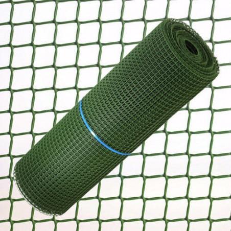 Tela Cuadros Plastico 1,0 cm. x 1 Metro. Verde Rollo 25 Metros