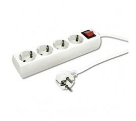 Base 4 tomas con T/T c/cable 1,50 metos + interruptor