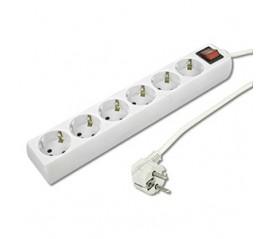 Base 6 tomas cable + interruptor 1,5 metros Ref.09225