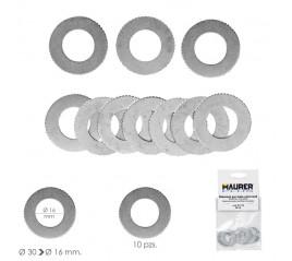 Adaptadores / Reductores Disco Corte Madera Ø 30 a Ø 16 mm. (Bolsa 10 piezas)