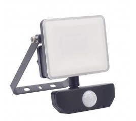 Foco Led Plano 10 Watt. Luz Blanca 4000º K  IP 65 800 Lúmenes Con Sensor de Presencia