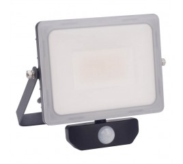 Foco Led Plano 30 Watt. Luz Blanca 4000º K  IP 65 2400 Lúmenes Con Sensor de Presencia