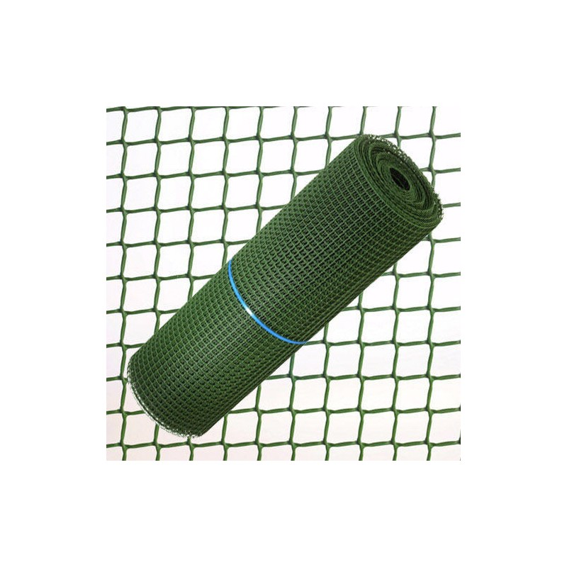 Tela Cuadros Plastico 2,0 cm. x 1 Metro Verde  Rollo 25 Metros