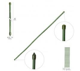Tutor Varilla Plástico Efecto Bambú Ø  8  - 10 mm. x  60 cm. (Paquete 10 Unidades)