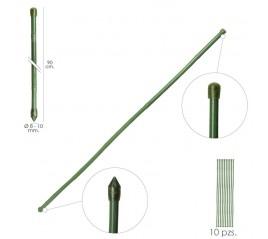 Tutor Varilla Plástico Efecto Bambú Ø  8  - 10 mm. x  90 cm. (Paquete 10 Unidades)