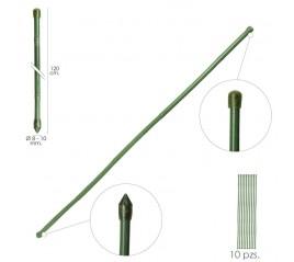 Tutor Varilla Plástico Efecto Bambú Ø  8  - 10 mm. x   120 cm. (Paquete 10 Unidades)