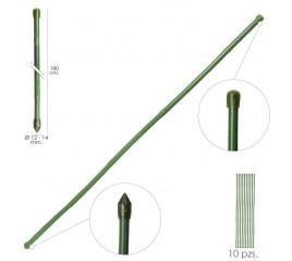 Tutor Varilla Plástico Efecto Bambú Ø 12  - 14 mm. x   180 cm. (Paquete 10 Unidades)