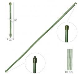Tutor Varilla Plástico Efecto Bambú Ø 16  - 18 mm. x   210 cm. (Paquete 10 Unidades)