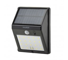 Aplique Solar Led 160 lúmenes con sensor de movimiento y crespuscular IP65