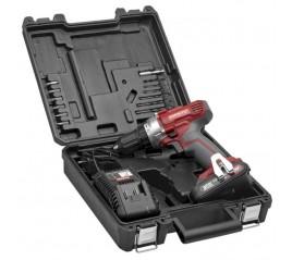 Taladro Atornillador 20 V. Con Batería de Litio 1,5 Ah, Accesorios y Maletín