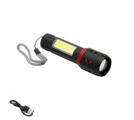 Linterna Led Batería Recargable con Función Zoom 5 W. 300 - 150 Lúmenes