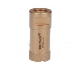 Corona Diamante Para Amoladora Ø 26 mm. Conexión Rosca M14. Corte Seco