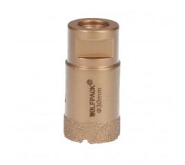 Corona Diamante Para Amoladora Ø 30 mm. Conexión Rosca M14. Corte Seco