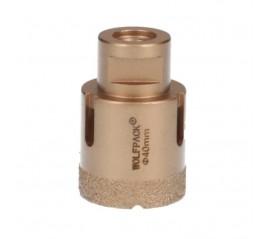 Corona Diamante Para Amoladora Ø 40 mm. Conexión Rosca M14. Corte Seco