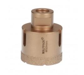 Corona Diamante Para Amoladora Ø 50 mm. Conexión Rosca M14. Corte Seco
