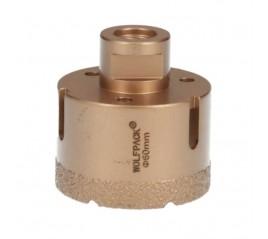 Corona Diamante Para Amoladora Ø 60 mm. Conexión Rosca M14. Corte Seco