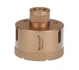 Corona Diamante Para Amoladora Ø 65 mm. Conexión Rosca M14. Corte Seco