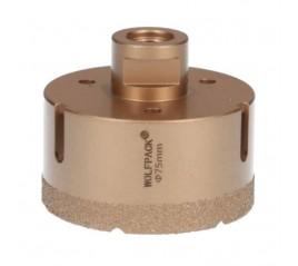 Corona Diamante Para Amoladora Ø 75 mm. Conexión Rosca M14. Corte Seco