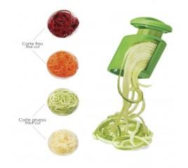 Cortador De Verduras Doble Cuchilla Inoxidable, Forma En Espiral