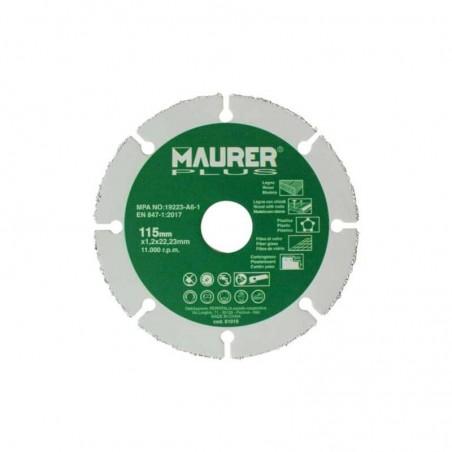 Disco De Corte Para Madera y Plasticos Ø 115 x 1,2 mm.