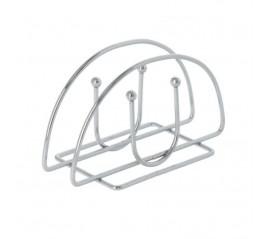 Servilletero Mesa,  Acero Cromado Forma Semicircular Vertical