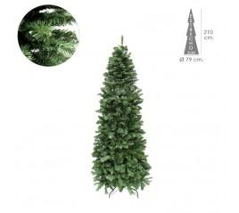 Árbol De Navidad 210 cm. Slim 972 Ramas PVC