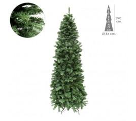 Árbol De Navidad 240 cm. Slim 1217 Ramas PVC