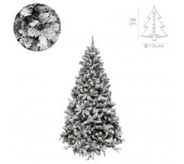 Árbol De Navidad Nevado 180 cm. 758 Ramas. Hojas De Pvc Con Nieve Artificial