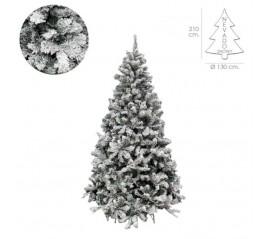 Árbol De Navidad Nevado 210 cm. 1106 Ramas. Hojas De Pvc Con Nieve Artificial