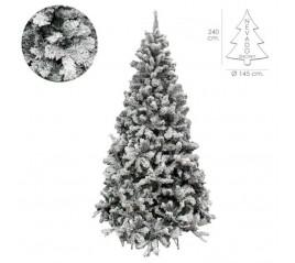 Ábol De Navidad Nevado 240 cm. 1500 Ramas. Hojas De Pvc Con Nieve Artificial