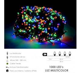 Guirnalda Luces Navidad 1000 Leds Multicolor. Luz Navidad Interiores y Exteriores Ip44